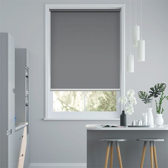 Electric Blackout Titan Harbour Grey Roller Blind