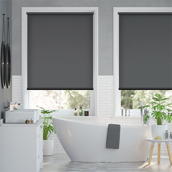 Electric Blackout Titan Kendall Charcoal Roller Blind
