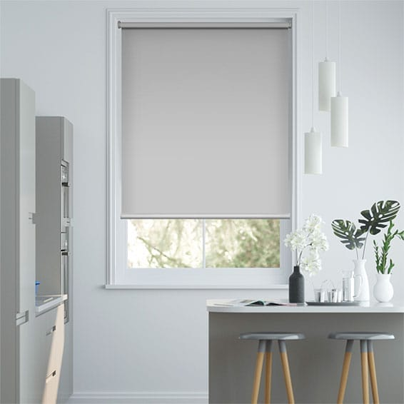 Electric Blackout Titan Simply Grey Roller Blind