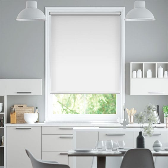 Electric Blackout Titan Snow White Roller Blind