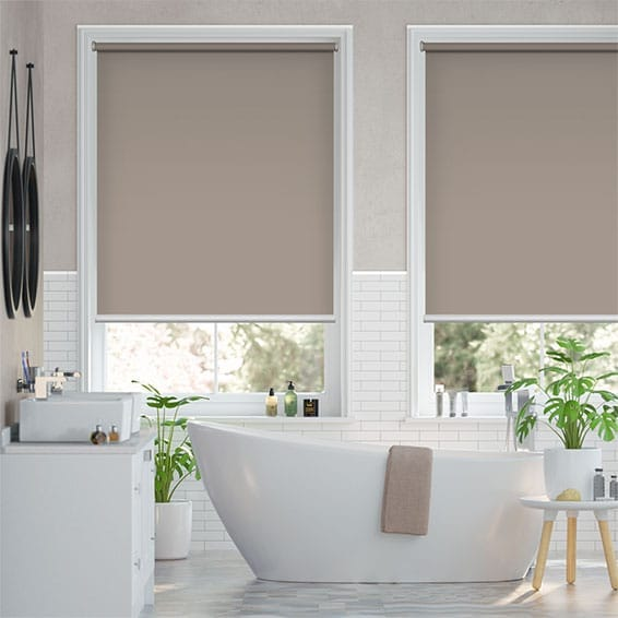 Electric Blackout Titan Warm Stone Roller Blind
