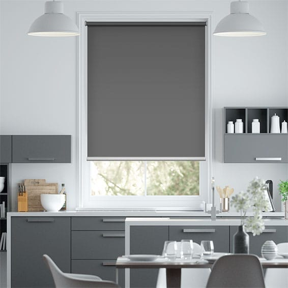 Electric Blackout Titan Wrought Iron Roller Blind