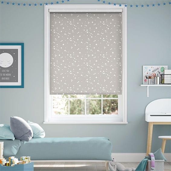 Electric Twinkling Stars Blackout Cloud Roller Blind