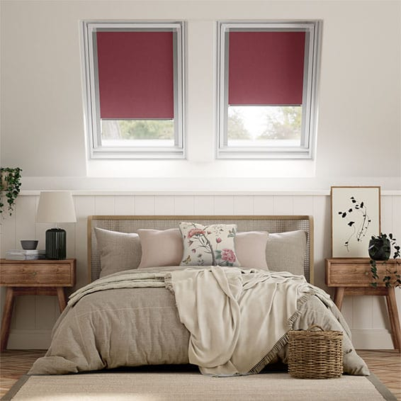 Elements Berry Blackout Blind for Fakro Windows