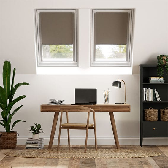 Elements Brown Blackout Blind for Fakro Windows