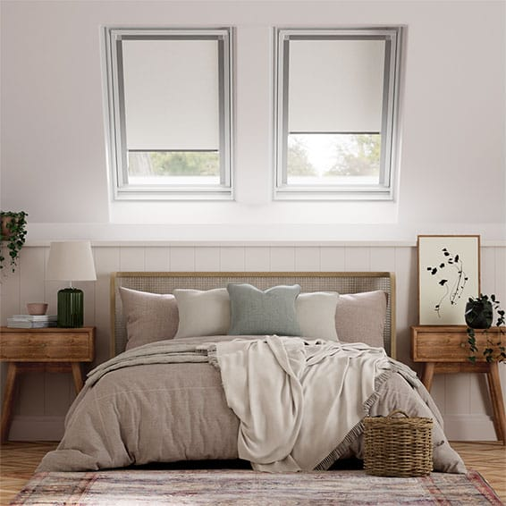 Elements Pale Grey Blackout Blind for Fakro Windows