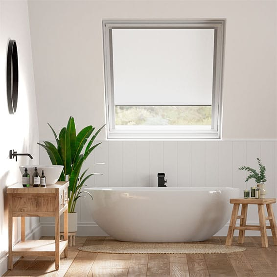 Elements Pure White Blackout Blind for Dakstra/Rooflite Windows