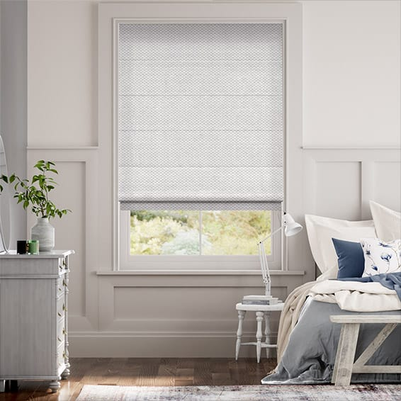 Elision Silver Roman Blind