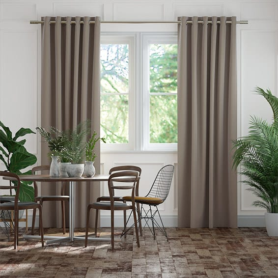 Elodie Antique Grey Curtains