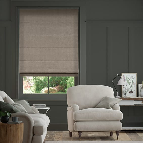Elodie Antique Grey Roman Blind