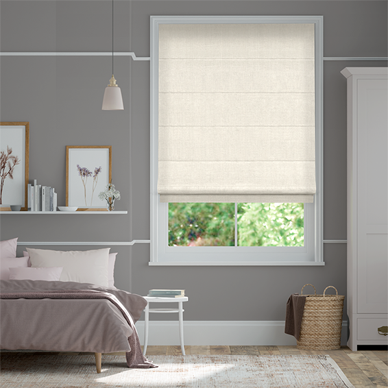Elodie Classic White Roman Blind