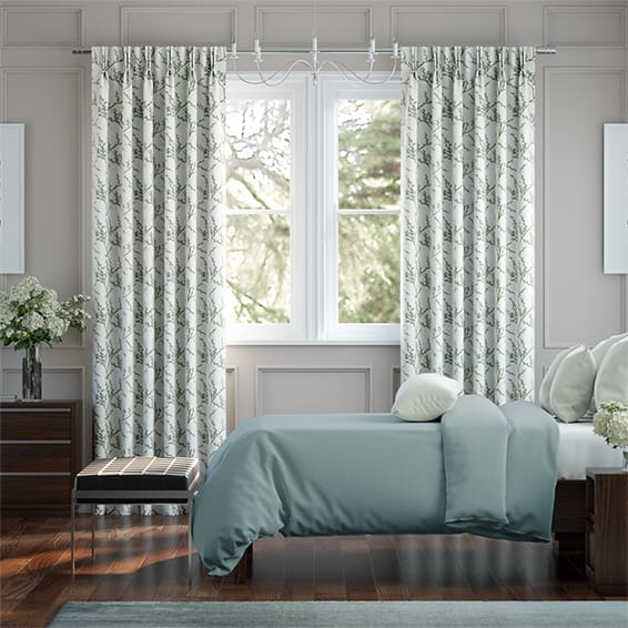 Emilia Embroidered Sky Curtains