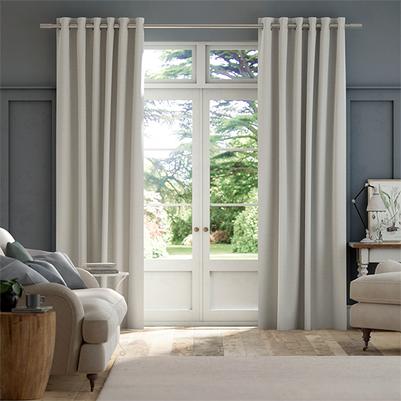 Emin Country Grey Curtains