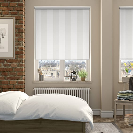 Empathy Blackout Cotton White Roller Blind