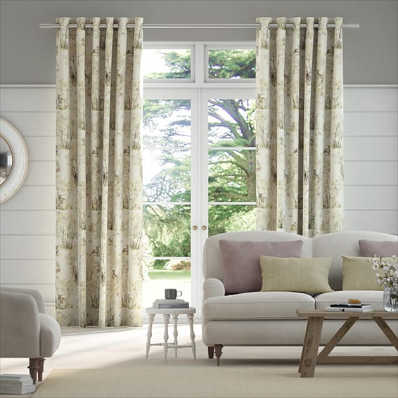 Enchanted Forest Linen Curtains