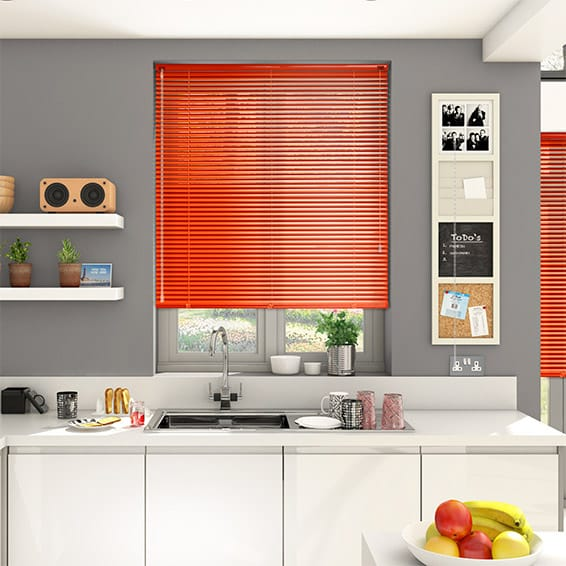 Essence Fiery Orange Venetian Blind - 25mm Slat