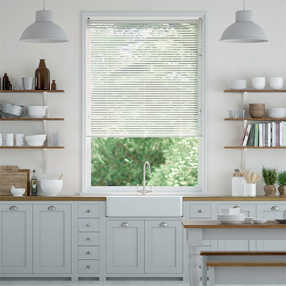 Essence Milky White Venetian Blind - 25mm Slat