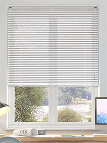 Premium Perforated White Venetian Blind thumbnail image