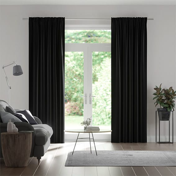 Eternity Linen Charcoal Curtains