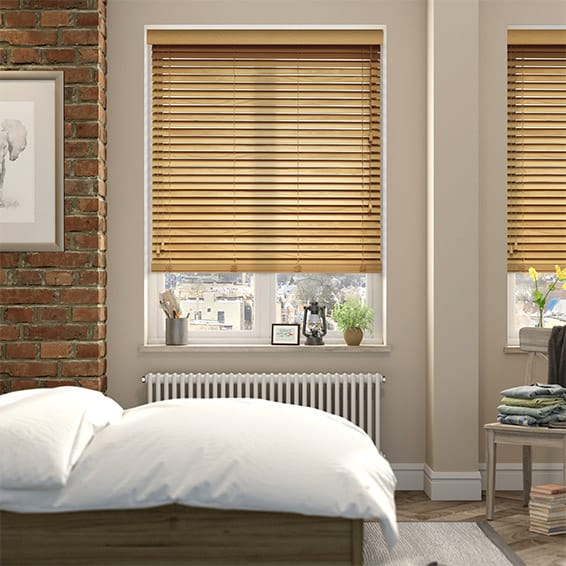 European Oak Wooden Blind - 35mm Slat