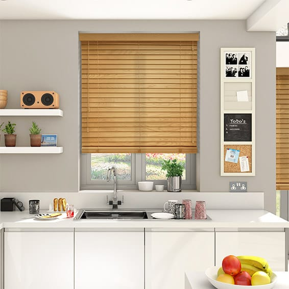 European Oak Wooden Blind - 50mm Slat