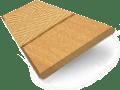 European Oak & Honey Wooden Blind with Tapes - 50mm Slat slat image