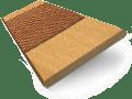 European Oak & Pecan Wooden Blind with Tapes - 50mm Slat slat image