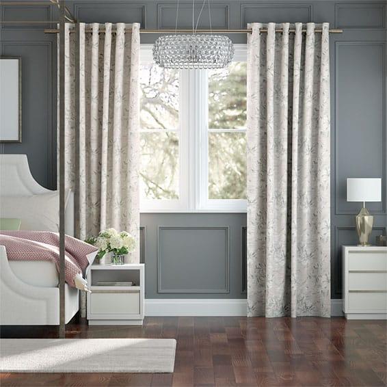 Everly Faux Silk Blush Curtains