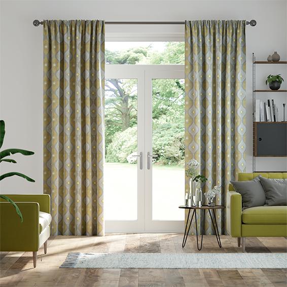 Evie Lemon Curtains