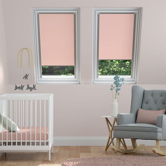 Expressions Candy Pink  Blackout Blind for Dakstra/Rooflite Windows