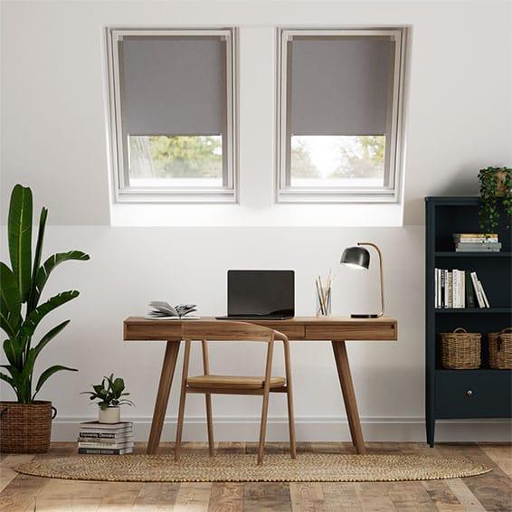 Expressions Dark Grey Blackout Blind for Dakstra/Rooflite Windows