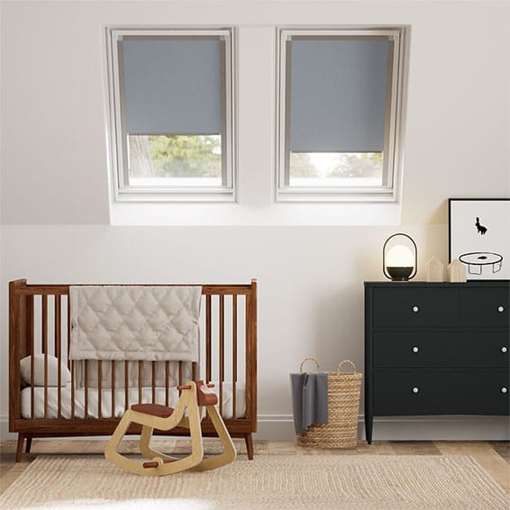 Expressions Fjord Blue Blackout Blind for VELUX ® Windows