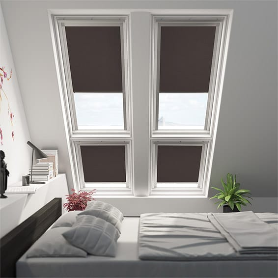 Expressions Hickory Blackout Blind for Dakstra/Rooflite Windows