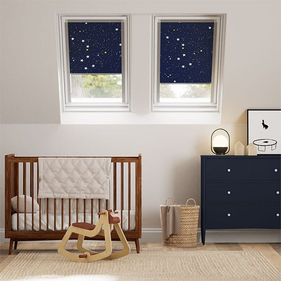 Expressions Starry Night Blackout Blind for Dakstra/Rooflite Windows