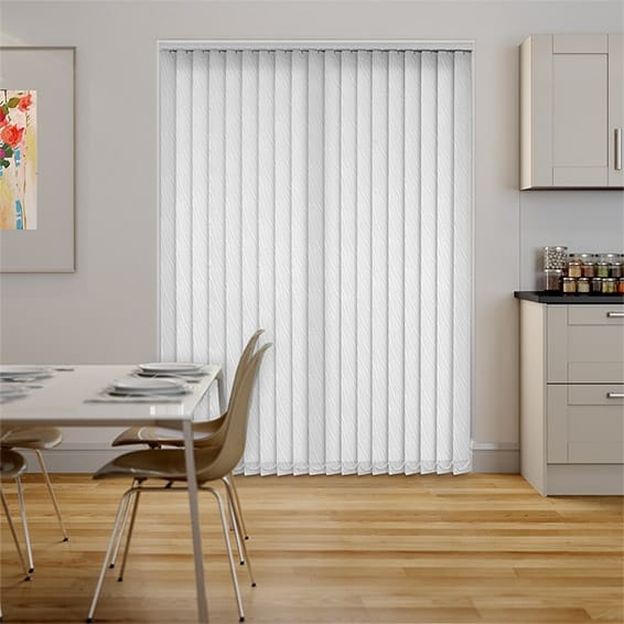 Faroe Ice White Vertical Blind