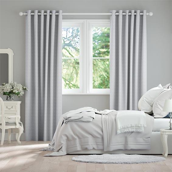 Filigree Misty Blue Curtains