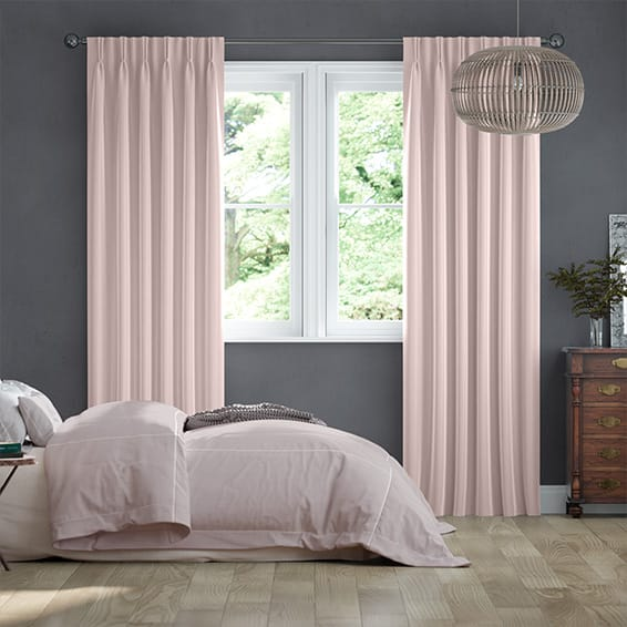 Fine Velvet Blush Curtains