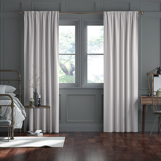 Fine Velvet Cadet Grey Curtains