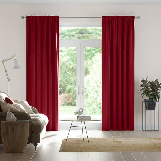 Fine Velvet Cherry Red Curtains