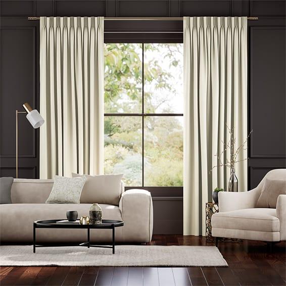 Fine Velvet Ivory Curtains