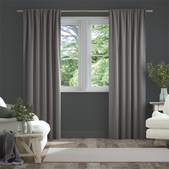 Fine Velvet Moon Grey Curtains