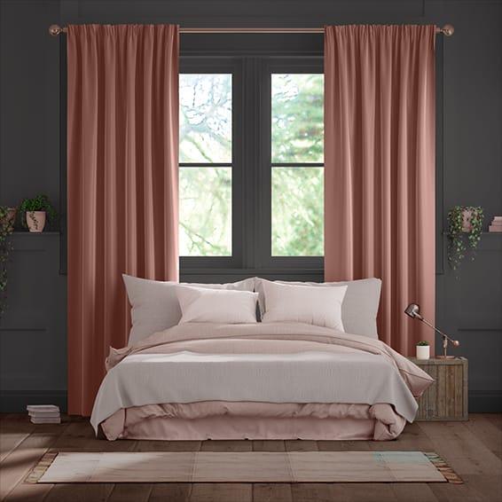Fine Velvet Pale Rose Curtains