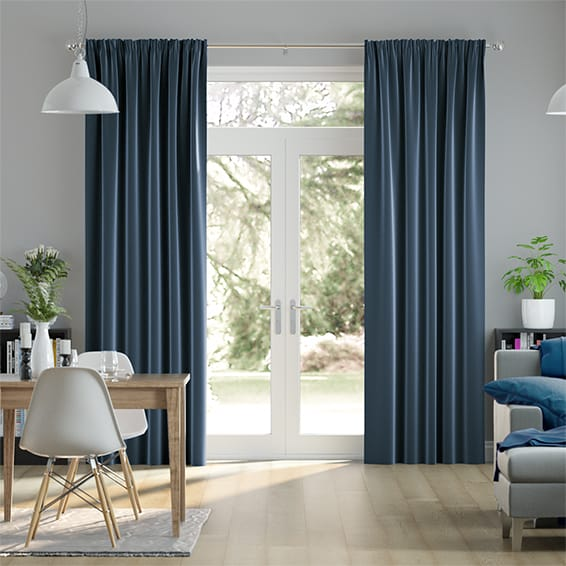 Fine Velvet Royal Blue Curtains