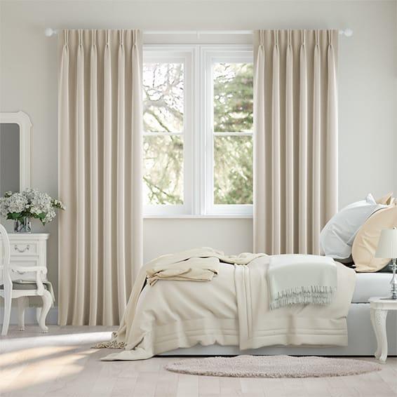 Fine Velvet Vanilla Curtains