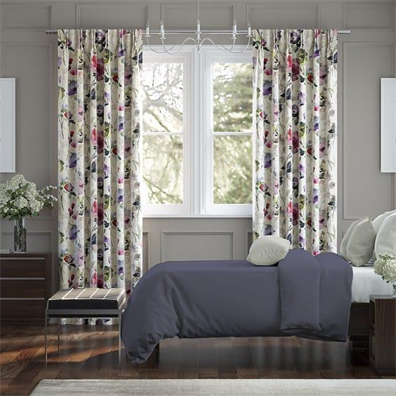 Fiori Linen Carnation Curtains