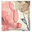 Fiori Linen Vintage Rose Roman Blind swatch image