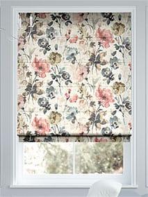 Fiori Linen Vintage Rose Roman Blind thumbnail image
