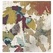 Fleur Umber & Teal Roman Blind swatch image
