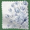 Floral Breeze Bluegrey Roman Blind swatch image