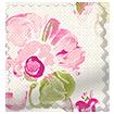 Floral Ink Linen Pink Curtains slat image